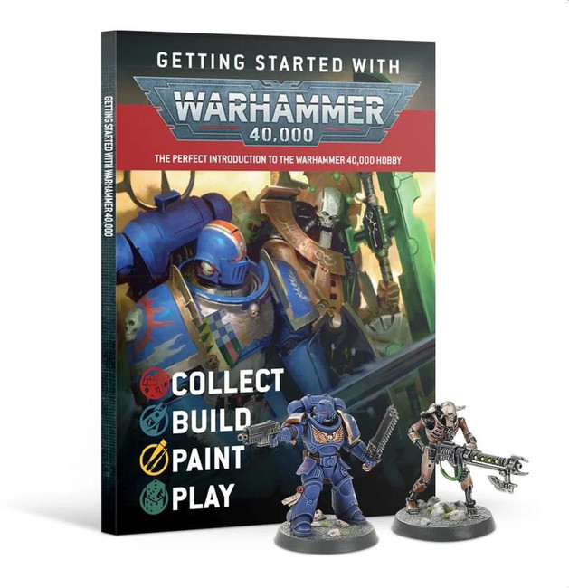 Getting Started with Warhammer 40,000 + Free Necron & Space Marine