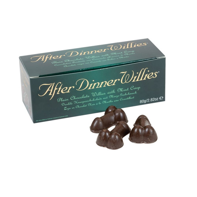 After Dinner Willies, Chocolates with Creamy Filling, Fun Joke Gift/Naughty Novelty