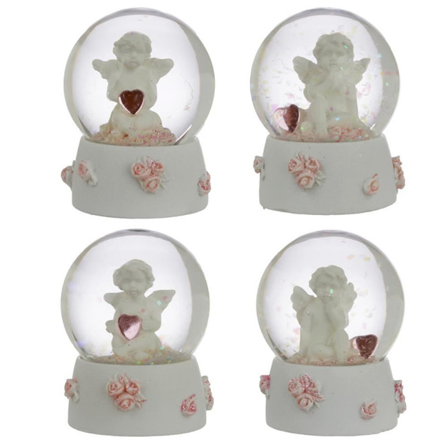Peace of Heaven Sweet Dreams Cherub Snow Globe Waterball