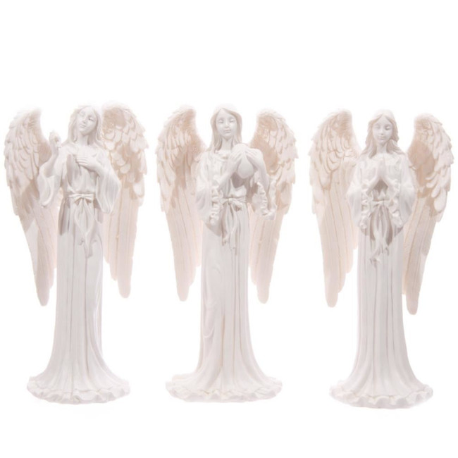 White Standing Angel Figurine 20cm