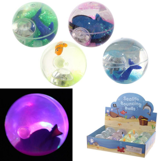 Clown Fish, Angel Fish, Dolphin Flashing Bouncy Ball