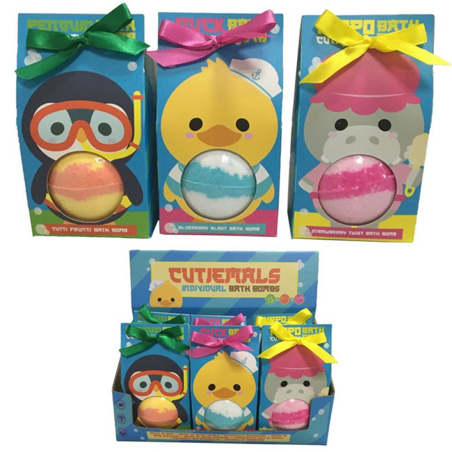 Cutiemals Bath Bomb in Gift Packaging