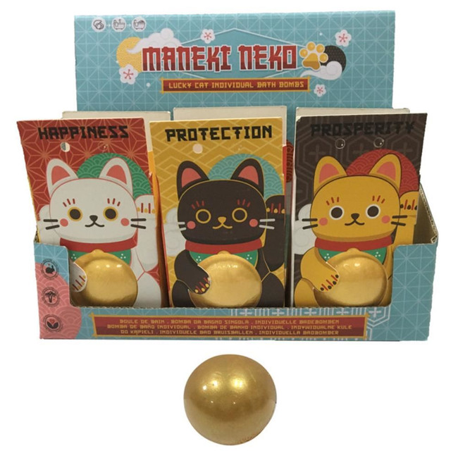 Maneki Neko Lucky Cat Bath Bomb in Gift Packaging