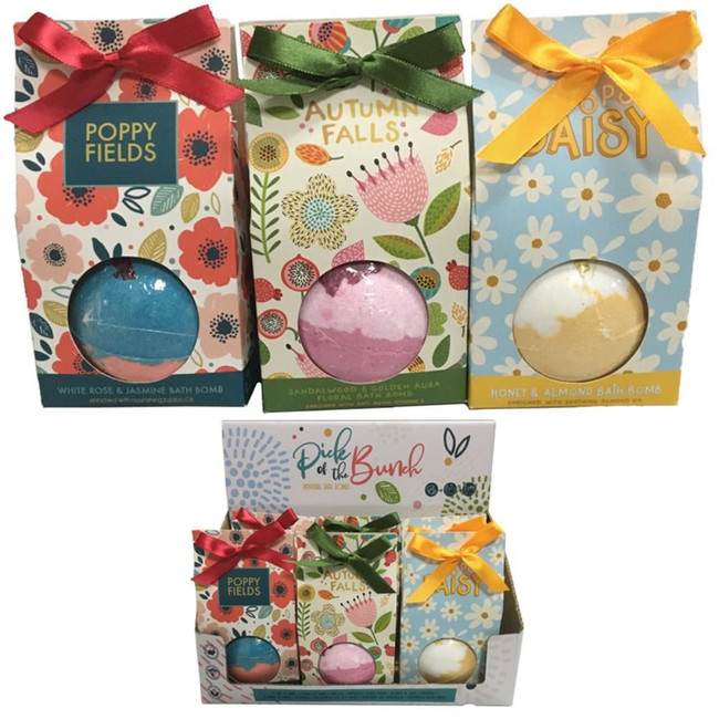 Pick of the Bunch Botanical Bath Bomb in Gift Packaging