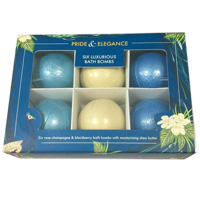 Set of 6 Pride & Elegance Luxury Bath Bombs