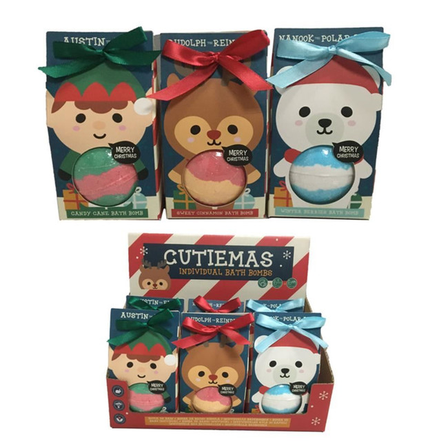 Cutiemals  Christmas Bath Bomb in Gift Packaging