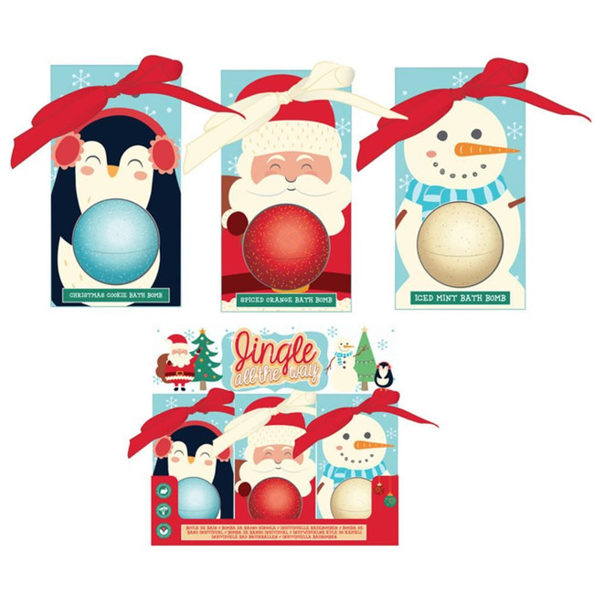 Christmas Cutiemals Bath Bomb in Gift Packaging