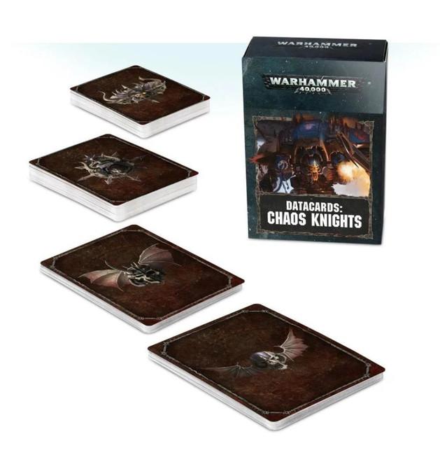 Datacards: Chaos Knights (English), Warhammer 40,000