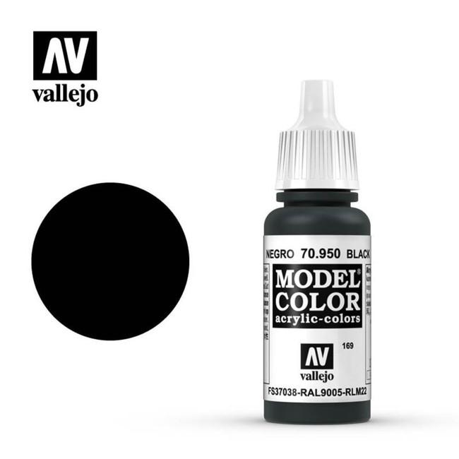 AV Vallejo Model Color 17ml - Matt Black