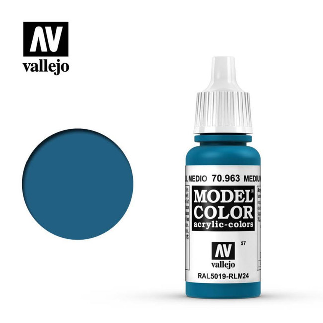 AV Vallejo Model Color 17ml - Medium Blue
