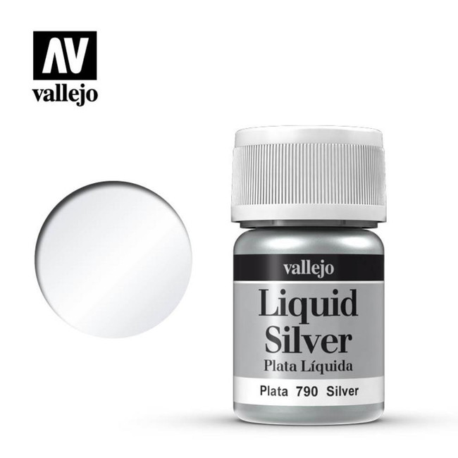 AV Vallejo Model Color 35ml - Silver (Alcohol Based)