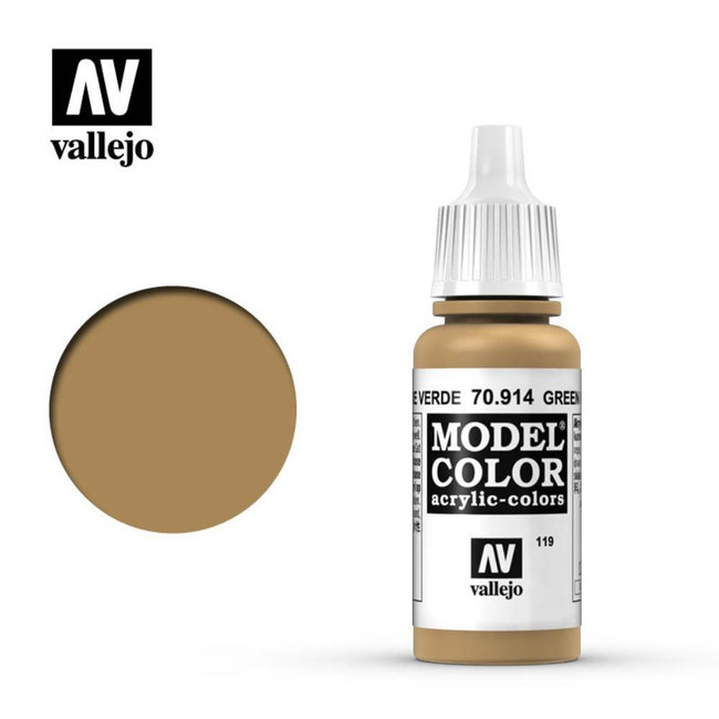 AV Vallejo Model Color 17ml - Green Ochre