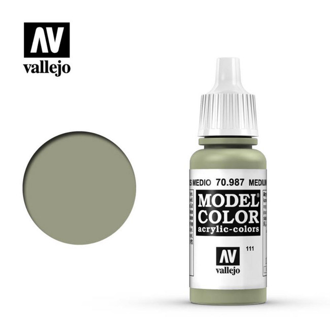 AV Vallejo Model Color 17ml - Medium Grey