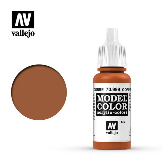 AV Vallejo Model Color 17ml - Metallic Copper