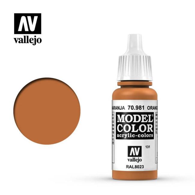 AV Vallejo Model Color 17ml - Orange Brown
