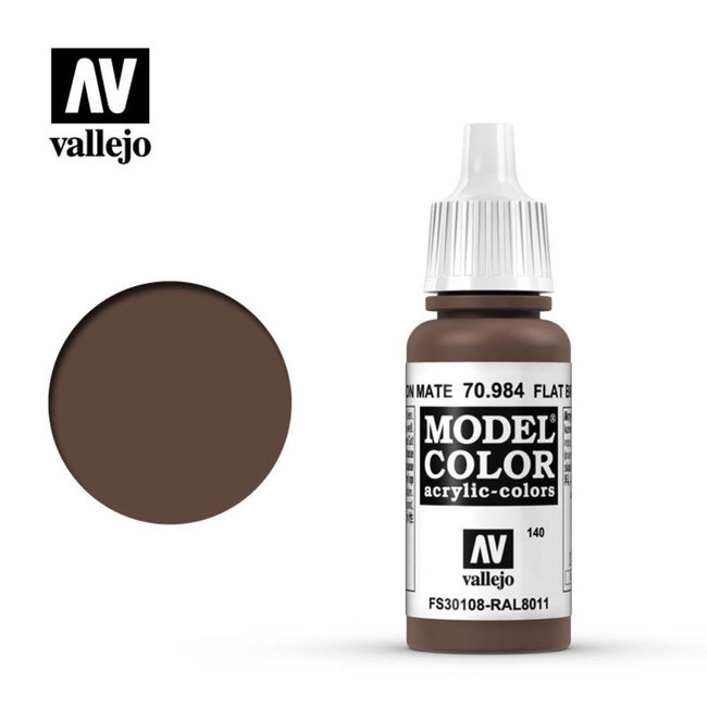 AV Vallejo Model Color 17ml - Flat Brown