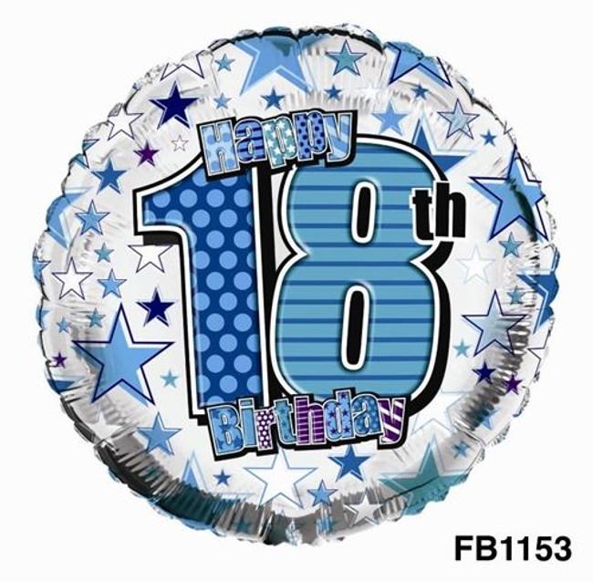 Balloon Foil Happy 18th Birthday,