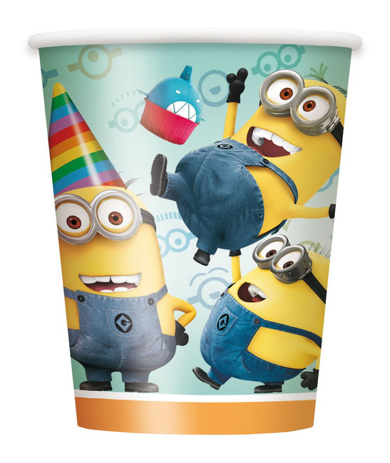 Despicable Me Party Cups 250ml Pkt 8