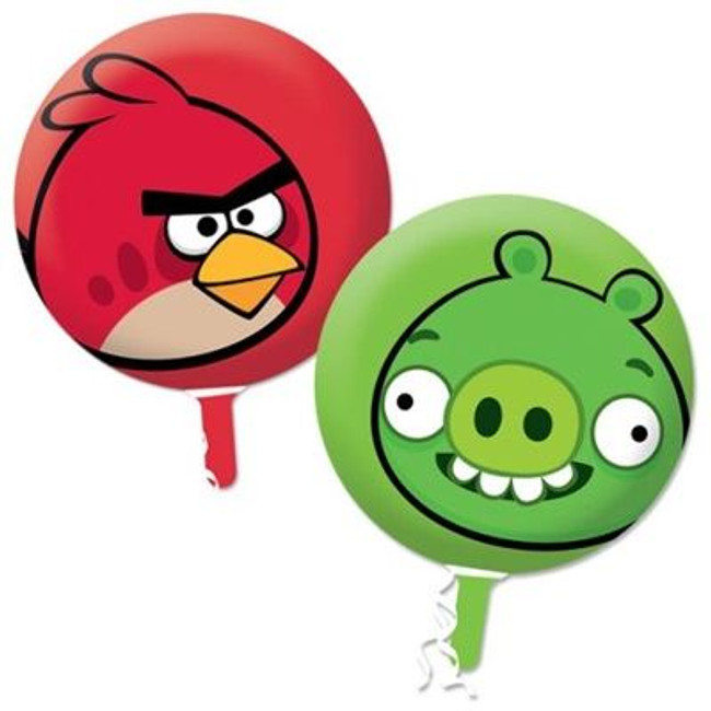 Balloon Foil Angry Birds Red,