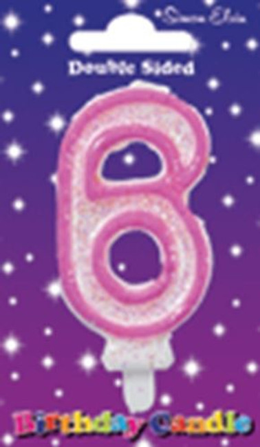Candle Birthday Number 6 Pink,
