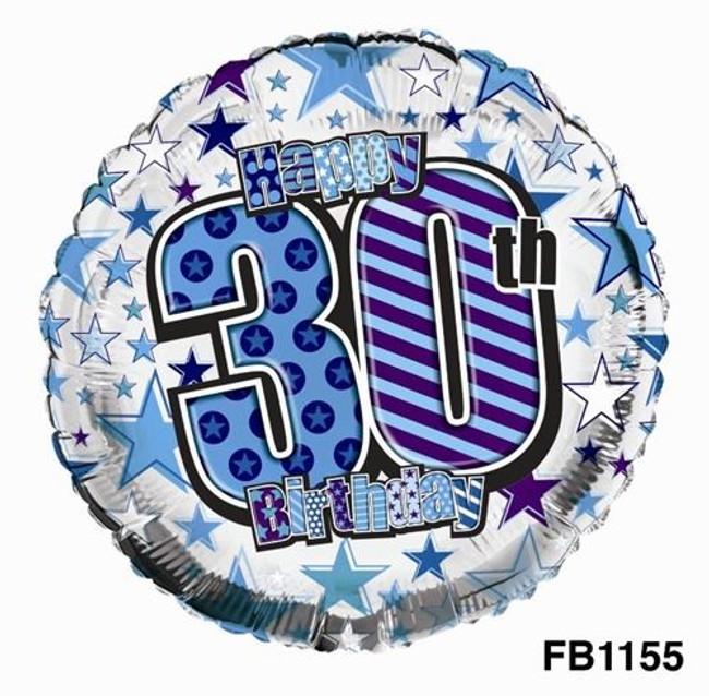 Balloon Foil Happy 30th Birthday,