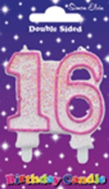 Candle Milestone 16 Pink,