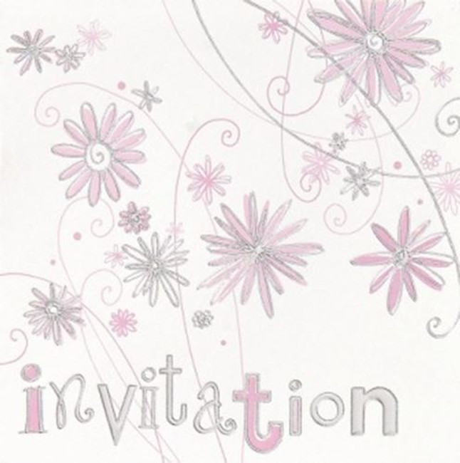 Card Invitation Open with Envelope,