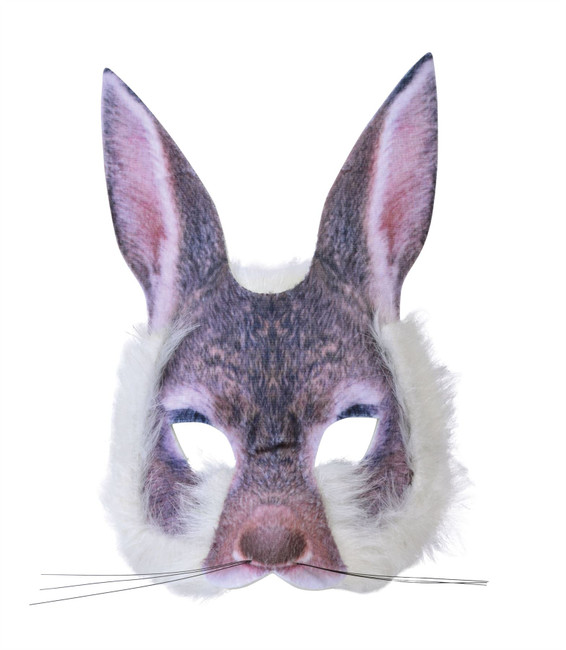 Bunny Face Mask Realistic Fur
