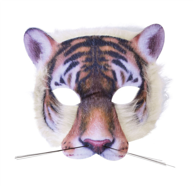 Tiger Face Mask Realistic Fur
