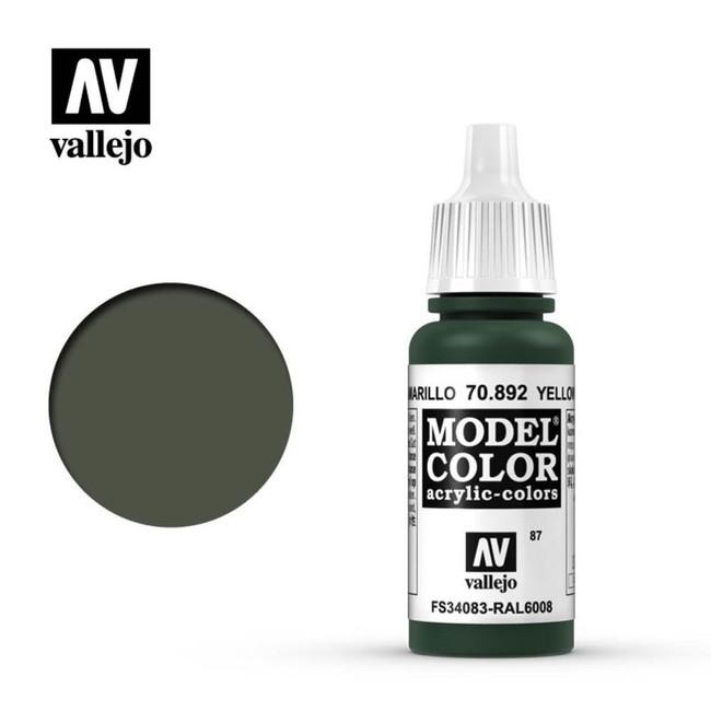 AV Vallejo Model Color 17ml - Yellow Olive