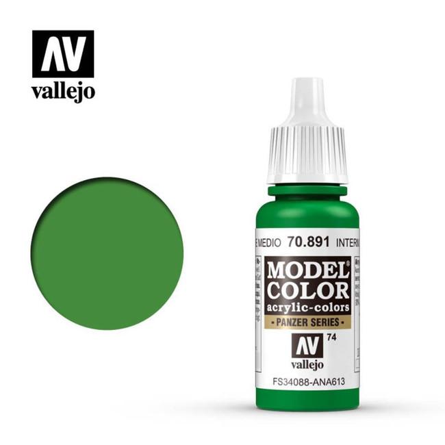 AV Vallejo Model Color 17ml - Intermediate Green