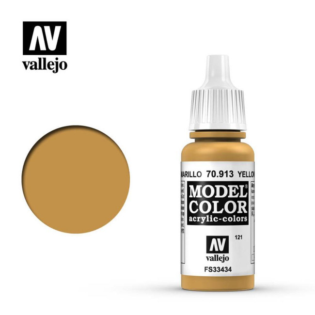 AV Vallejo Model Color 17ml - Yellow Ochre