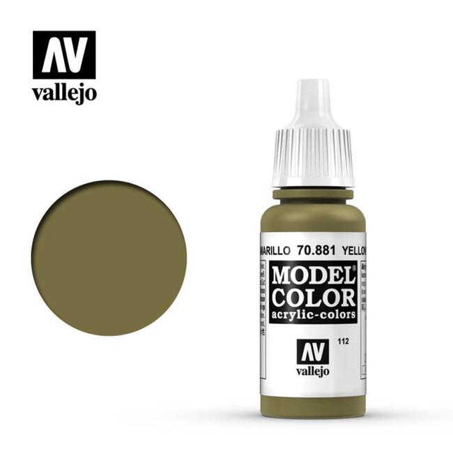 AV Vallejo Model Color 17ml - Yellow Green, 70.881