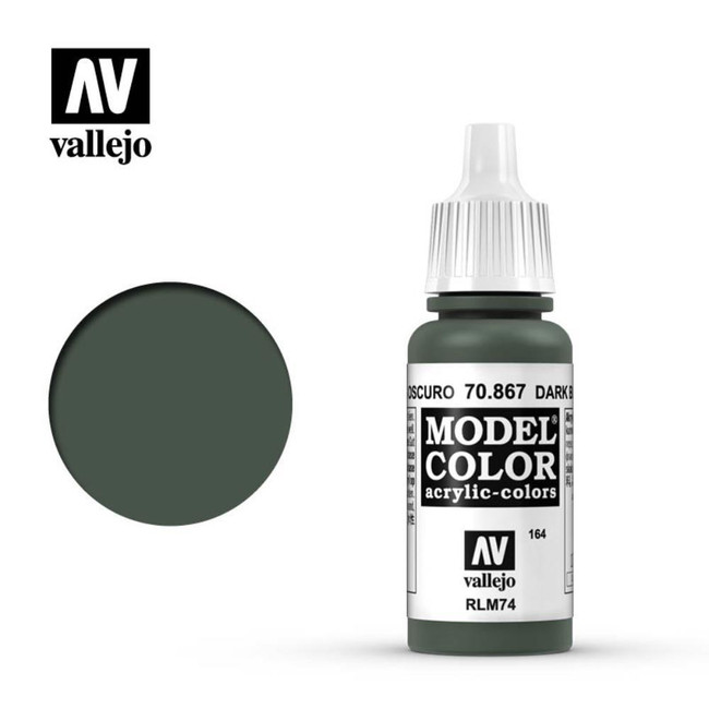 AV Vallejo Model Color 17ml - Dark Blue Grey, 70.867