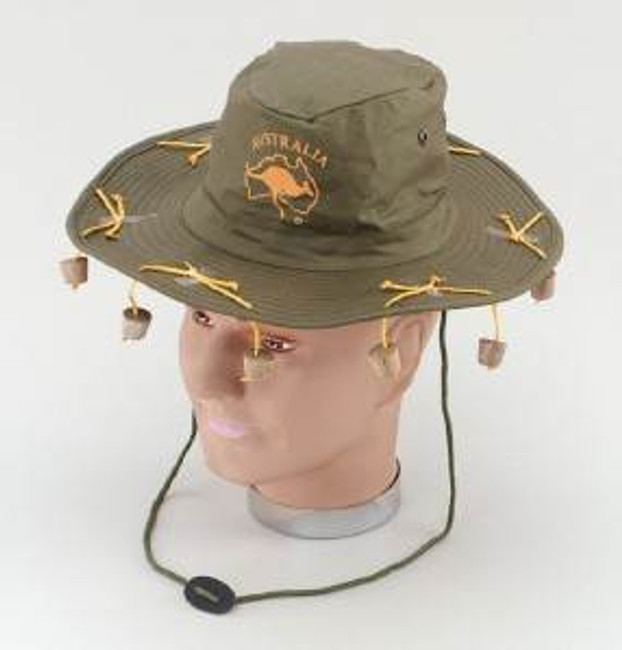 Australian Hat With Corks.