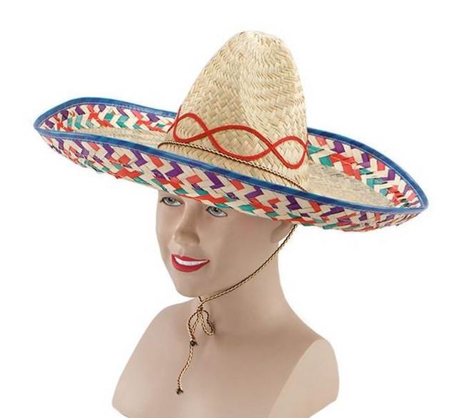 Mexican Straw Sombrero.