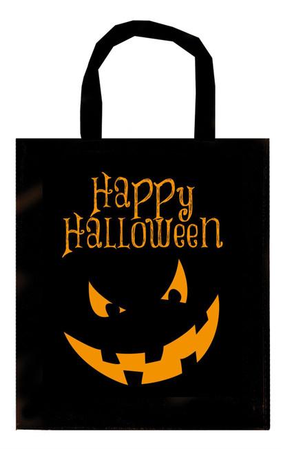 Black Halloween Trick or Treat Bag, Pumpkin Candy Basket