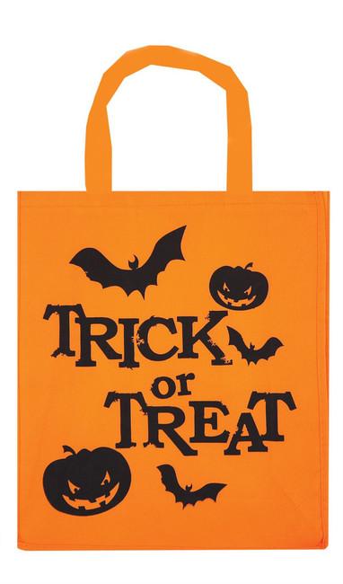Orange Halloween Trick or Treat Bag, Pumpkin Candy Basket