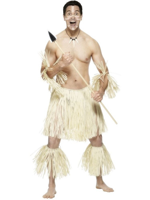 Zulu Warrior Costume, Straw