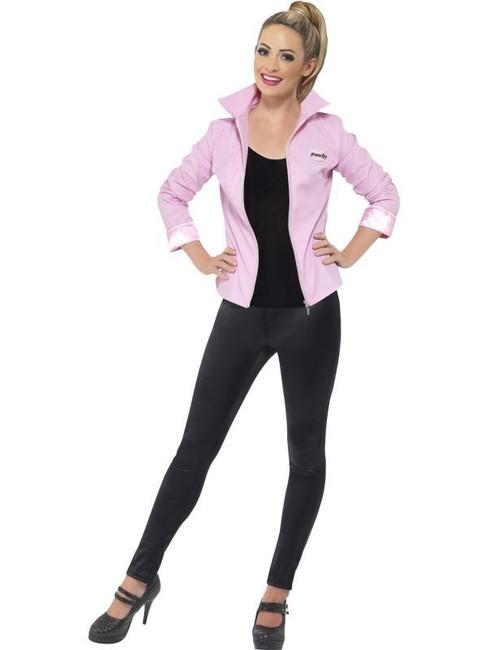 Grease Deluxe Pink Ladies Jacket, Large