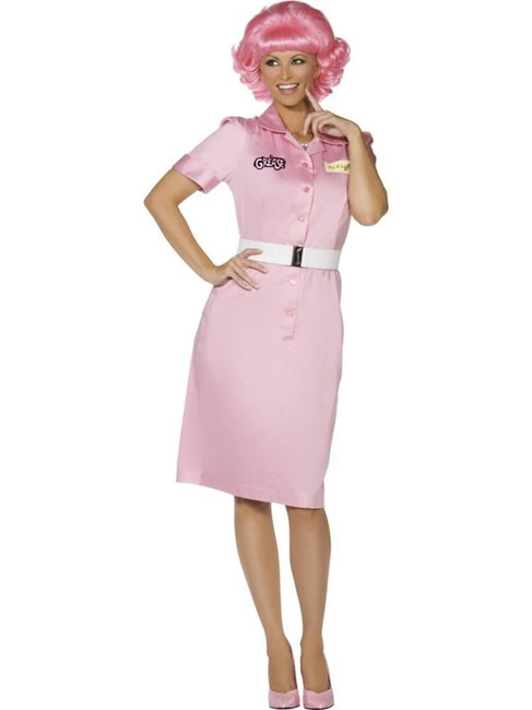 Grease Frenchy Beauty School Drop Out Costume, Womens Fancy Dress, UK Size 16-18