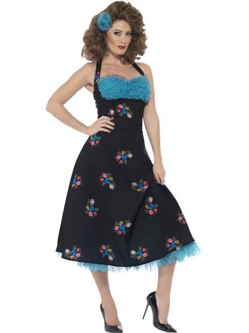 Grease Cha Cha DiGregorio Costume, Medium, Fancy Dress, Womens, UK 12-14