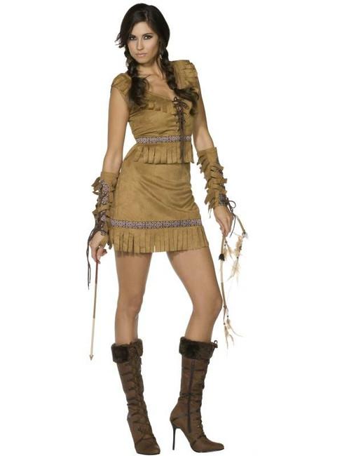 Fever Pocahontas Costume, UK Dress 8-10