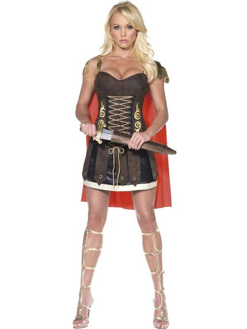 Fever Gladiator Costume, UK Dress 8-10