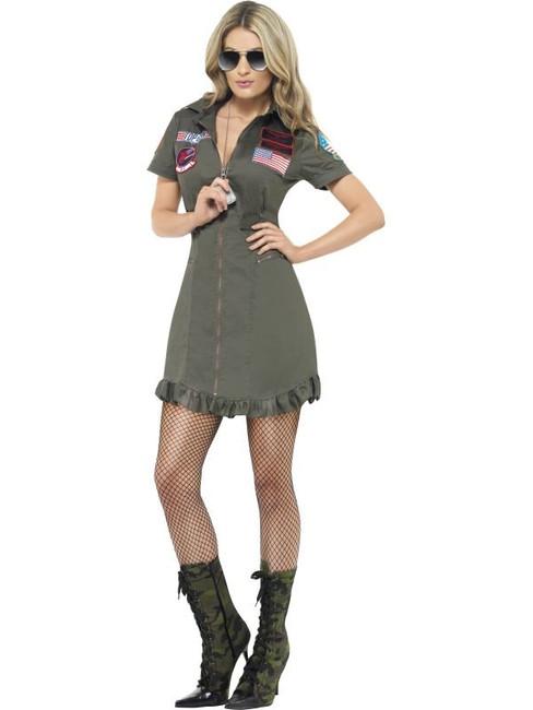 Top Gun Deluxe Female Costume, Medium