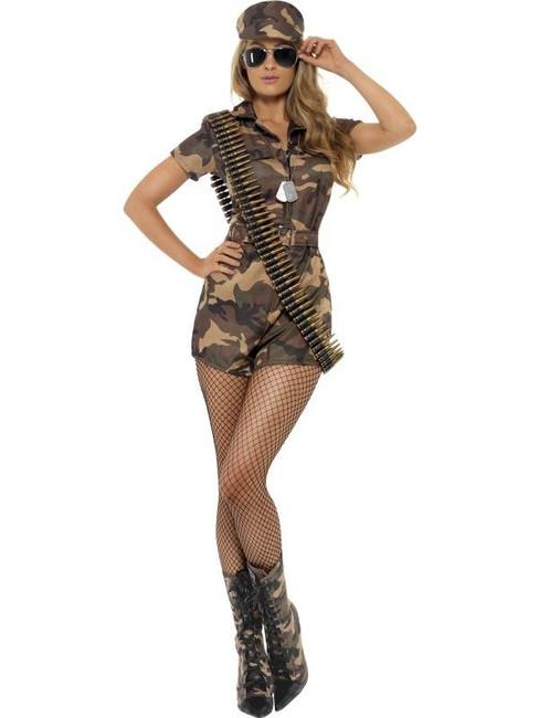 Army Girl Sexy Costume, UK Dress 12-14