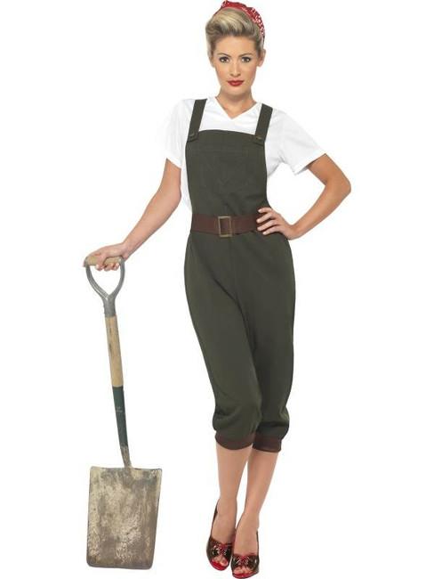 WW2 Land Girl Costume, UK Dress 16-18