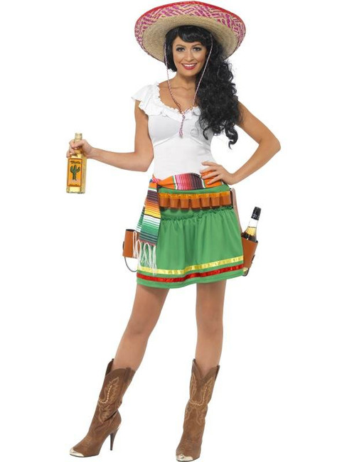 Tequila Shooter Girl Costume, UK Dress 8-10