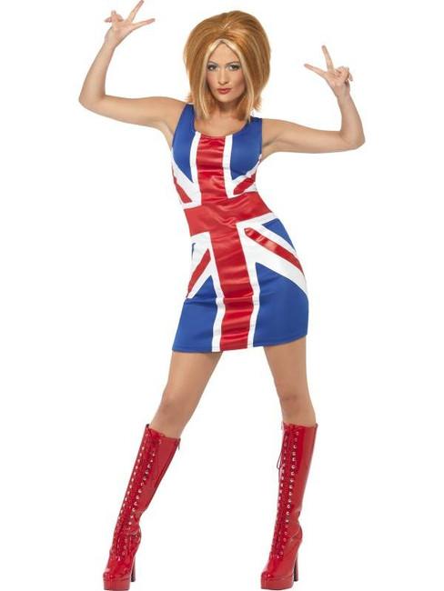 Ginger Power, 1990's Icon Costume, Union Jack, UK Dress 16-18