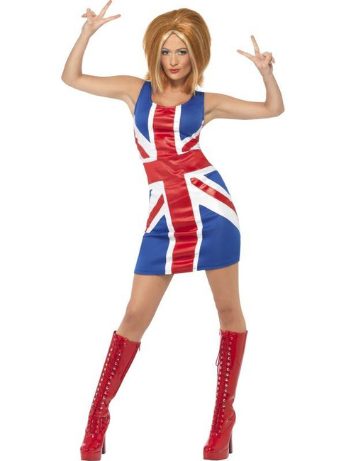 Ginger Power, 1990's Icon Costume, UK Dress 8-10